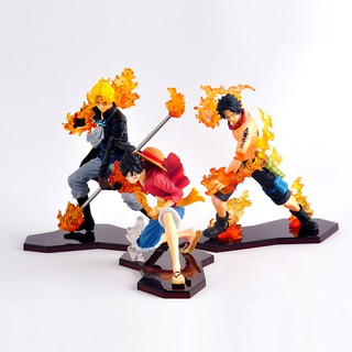 Ready Stock 3PCS One Piece Anime Luffy Ace Saab