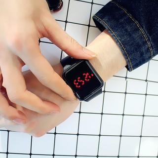 Đồng hồ điện tử cho nam nữ màn hình led dây cao su mặt vuông AP siêu đẹp