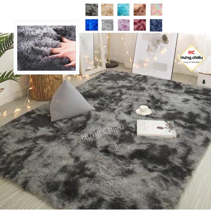 Thảm lông loang trải sàn trang trí phòng khách decor phòng ngủ