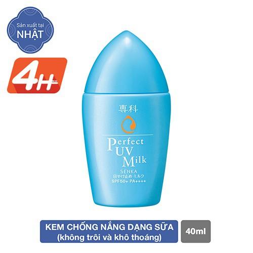 Hình ảnh [HCM] Kem chống nắng dạng sữa Senka Perfect UV Milk 40ml_14095-0