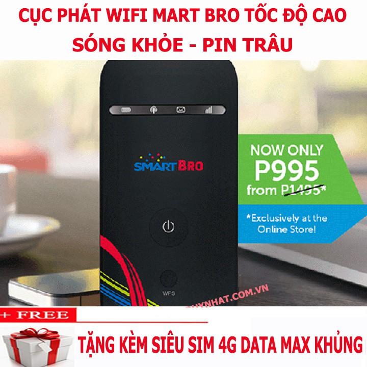 [Hót Nhất] Bộ Phát Wifi Cầm Tay Smart Bro , Nhỏ Gọn, Tốc Độ Cao, Sóng Khỏe, Pin Bền, BH 12 Tháng