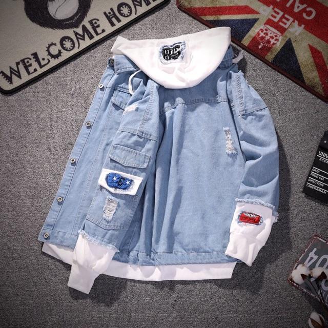 Áo khoác bò nam và nữ ( coi kĩ hình thật phía cuối ) - Áo khoác jeans