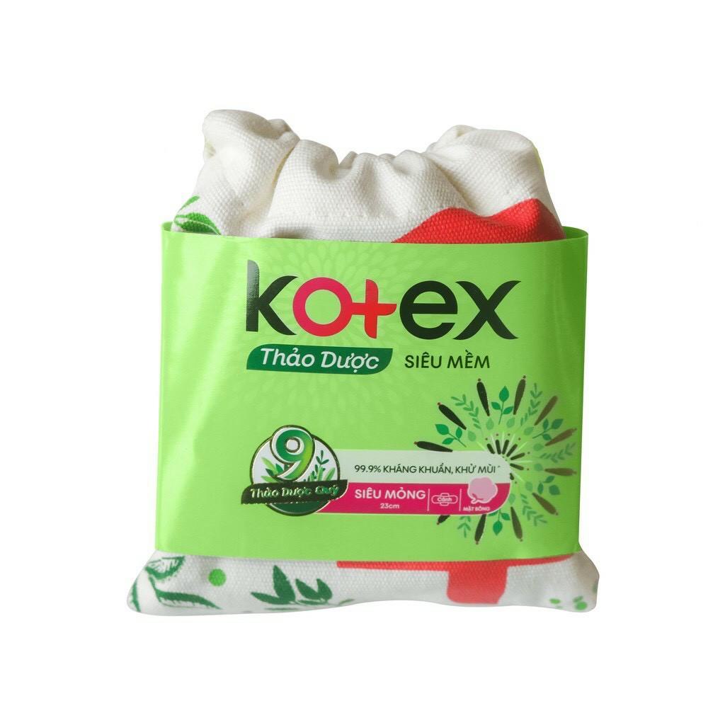 Băng vệ sinh Kotex thảo dược siêu mềm (gói 4 miếng)