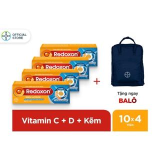 """Combo 4 hộp viên sủi bổ sung Vitamin C, D, và Kẽm Redoxon Triple Action 10 viên/hộp - Tặng 1 balo giá chỉ còn <strong class=""""price"""">20.100.000.000đ</strong>"""