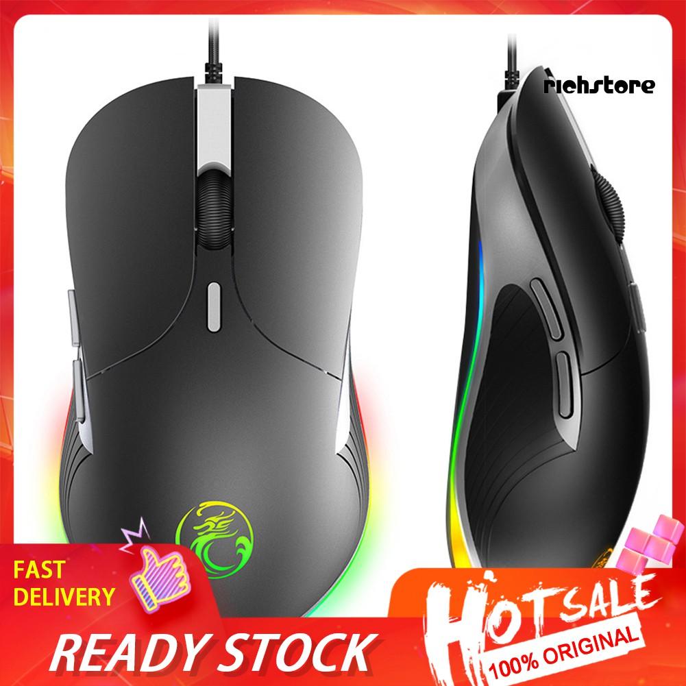 Chuột Gaming Imice X6 6 Nút Rgb Có Dây Cho Laptop