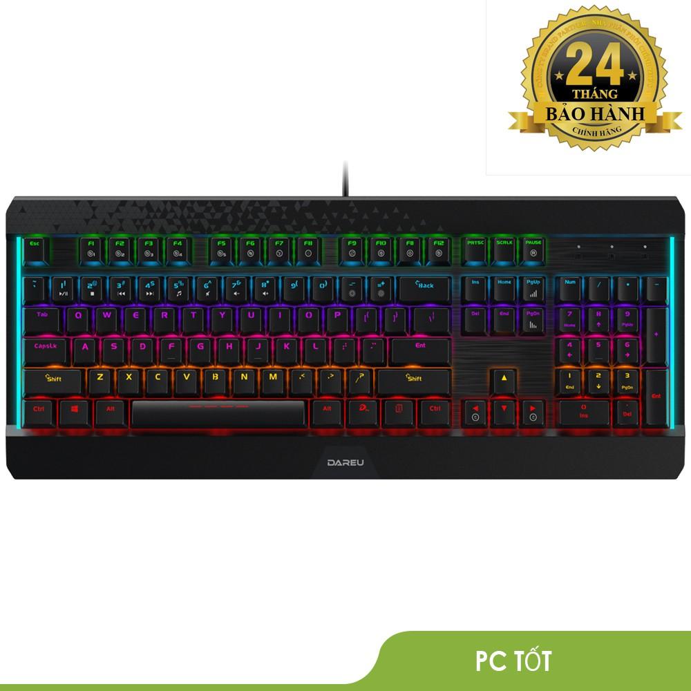 Bàn phím cơ Gaming DAREU EK169 104KEY (MULTI LED, Blue/ Brown/ Red D switch) - BH chính hãng 24 tháng