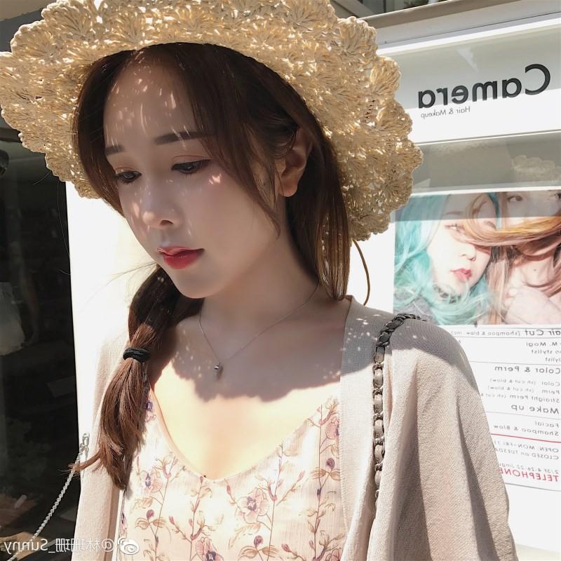 หมวกฟางหญิงฤดูร้อนสดขนาดเล็กโบว์หมวกฟางหมวกวันหยุด