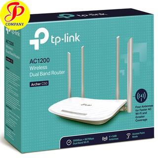 Yêu ThíchBộ Phát Wifi TP-LINK Archer C50 AC1200 băng tần kép - Chính Hãng - Mới 100%