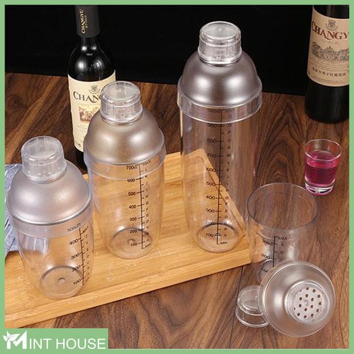 Bình lắc pha chế trà sữa & cocktail - shaker 350ml - 530ml - 1000ml