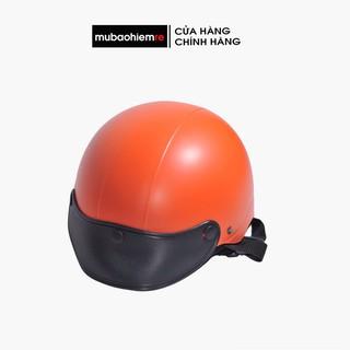 [Xã kho freeship] Mũ bảo hiểm nửa đầu nam nữ Freesize Trắng,đen,đỏ..trơn đồng giá thumbnail