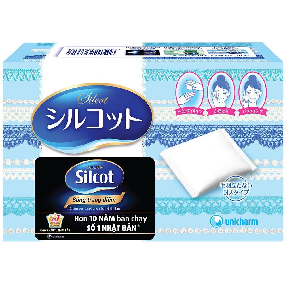 Bông trang điểm Silcot hộp 82 miếng hàng Nhật chính hãng
