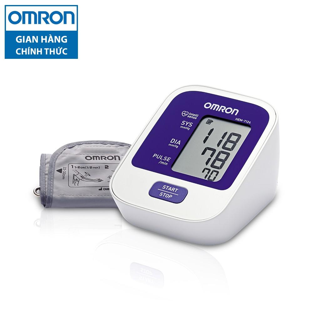 [Mã COSMALL11 -10% ĐH 250K]Máy đo huyết áp bắp tay tự động Omron HEM-7124