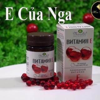 [CHÍNH HÃNG] Vitamin E đỏ 270mg Mirrolla Nga (30v)