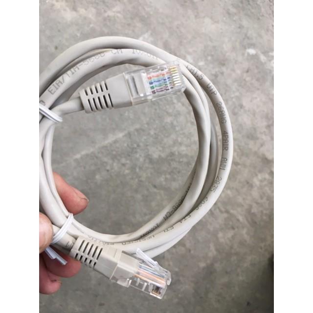 [Cable Zin] Dây Cáp Mạng Đúc 8 Lõi 2 Đầu Hàng Bóc Máy 1.5m - Cáp Đi Kèm Modem Mạng