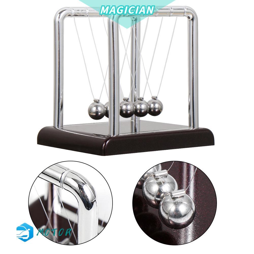 🔸MAGIC🔹 Fashion Balance ball model Gifts Physics Science Pendulum Balance Steel Balls New Desk Decor Kids Toys Home Decoration Teaching Supplies