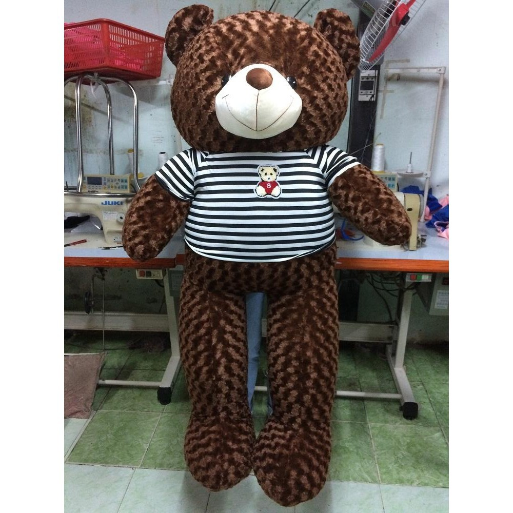 [ GIẢM GIÁ ] Gấu bông Teddy Cao Cấp khổ vải 1m4 Cao 1,2 màu Nâu _ Gấu Teddy Xinh