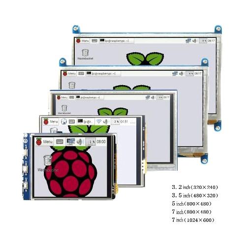 Raspberry pi 3.2/3.5/5/7 inch touch HDMI LCD display module Support Raspberry Pi 2/3 B+ 3B+
