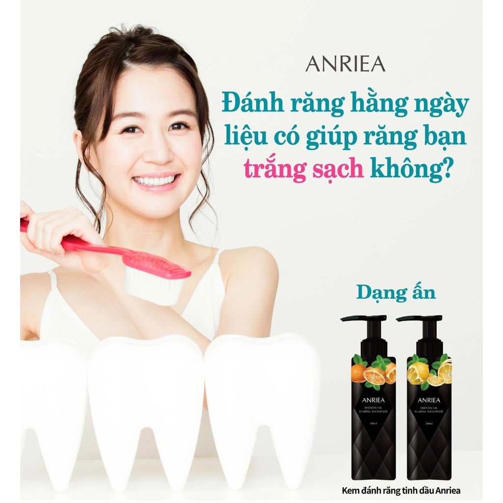 Kem Đánh Răng Anriea Tinh Dầu Hương CAM (200ml) TẶNG 2 gói Nước súc miệng kháng khuẩn Anriea