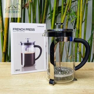 Bình pha cafe Pháp Lock&Lock French Press bình pha trà dung tích 800ml LLG019 Phin pha cà phê