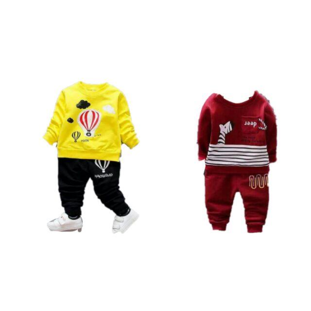 Combo 2 bộ quần áo dài tay thu đông cho bé trai và bé gái - 2656672 , 679575107 , 322_679575107 , 200000 , Combo-2-bo-quan-ao-dai-tay-thu-dong-cho-be-trai-va-be-gai-322_679575107 , shopee.vn , Combo 2 bộ quần áo dài tay thu đông cho bé trai và bé gái