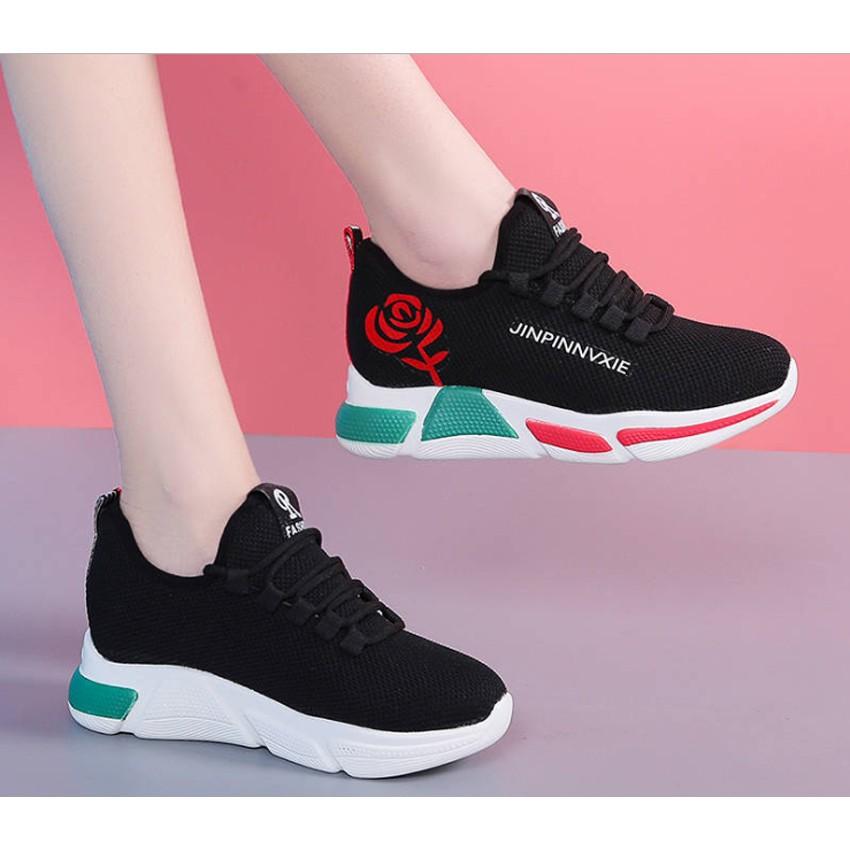 Giày thể thao nữ, Sneaker nữ hoa hồng GR 9