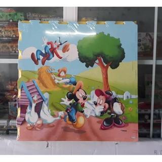 Thảm xốp hoạt hình bộ 4 miếng 60x60cm hình Mickey