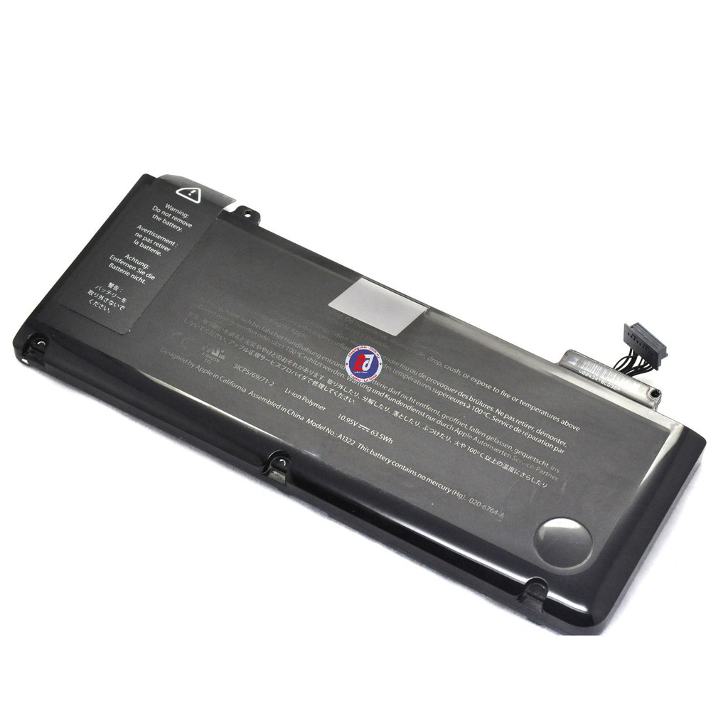 "Pin A1322 gắn cho laptop Apple MacBook Pro 13"" Unibody A1278, 63.5Wh. A1322 Battery for MacBook Pro 13 inch MC374 MC375"