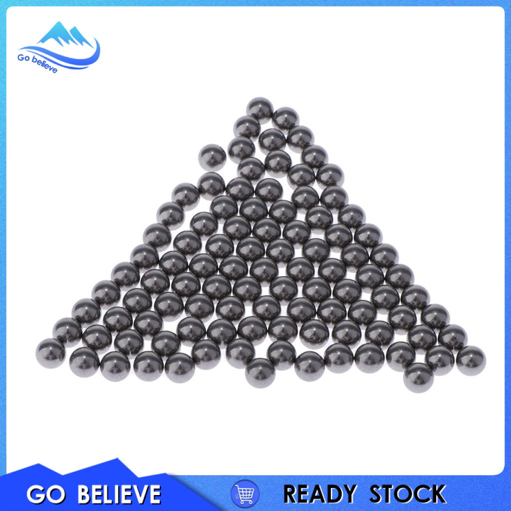 [Go believe] Pack of 100 5mm Smooth Stainless Steel Mini Paint Mixing Balls Accessories