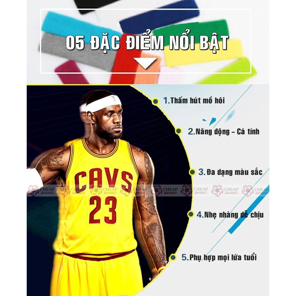 Headband NBA Băng Đô Bóng Rổ Băng Trán Thể Thao Dùng Tập Gym, Bóng Chuyền, Tennis, Cầu lông, Băng Đầu Thấm Chặn Mồ Hôi