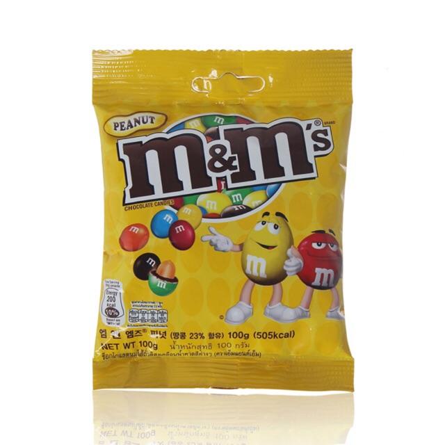 Kẹo socola M&M nhân đậu phộng 100 gram