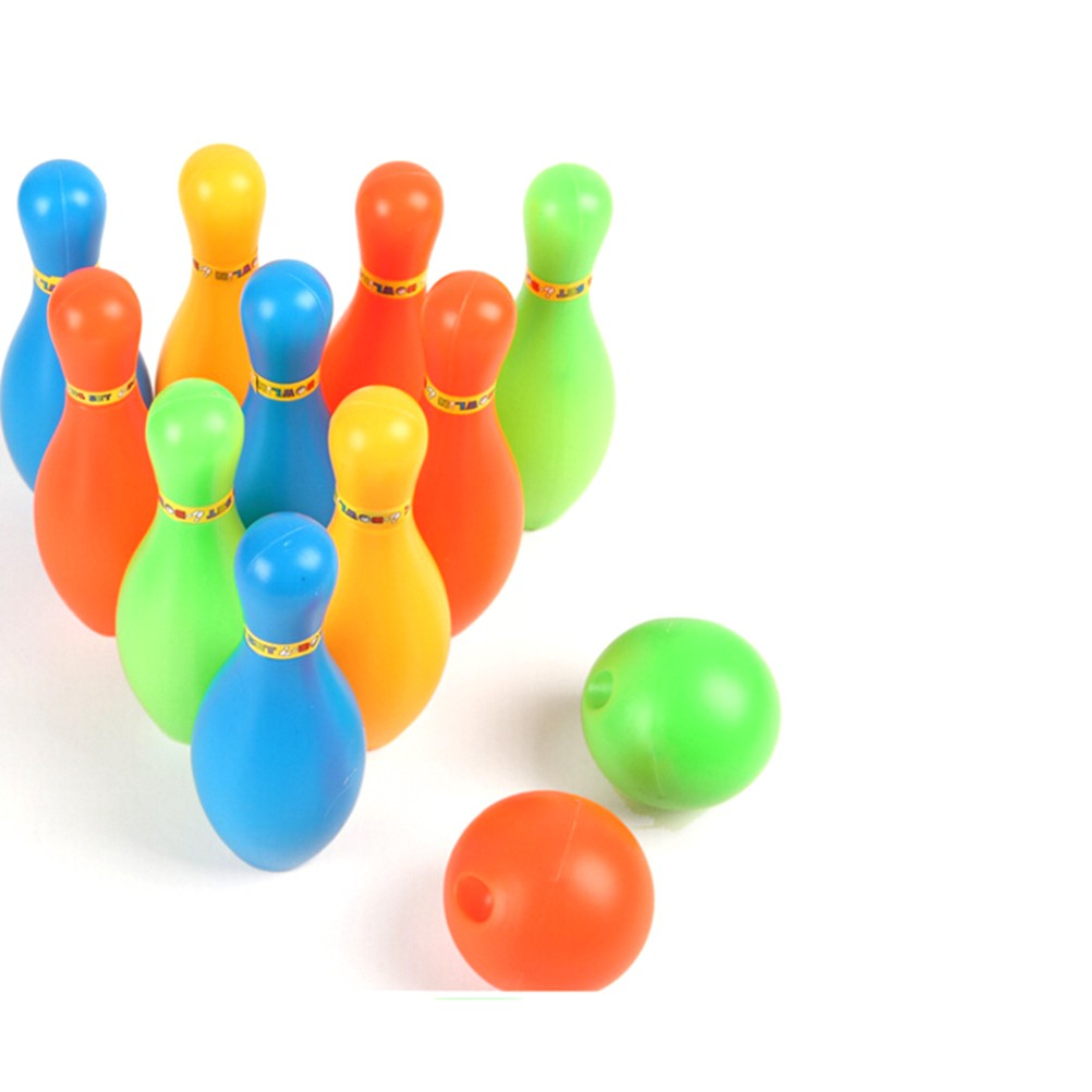NEW❤❤11cm Height Kids Plastic Bowling Set Outdoor Mini Educational Toys