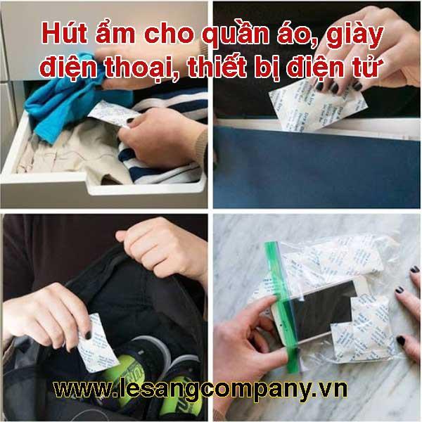 Gói hút ẩm đóng túi 1KG - loại gói 1/2/3/5/10/50/100/200gram Silica Gel - Hạt chống ẩm mốc, khử mùi