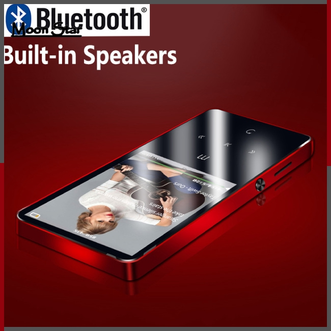 Portable Bluetooth 4.2 MP3 Player Built-in Speaker High Sound Quality Music Player with FM E-Book