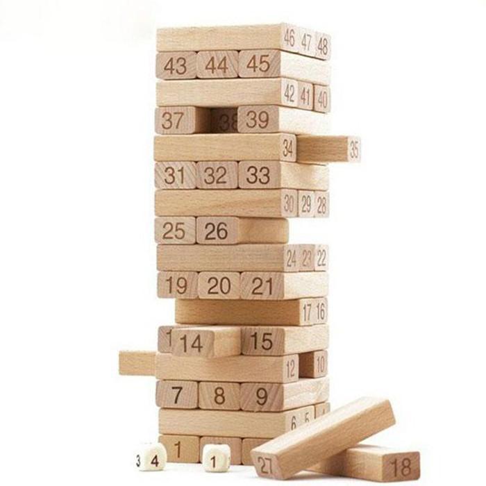 [GIÁ SỈ] Bộ đồ chơi rút gỗ 48 thanh to