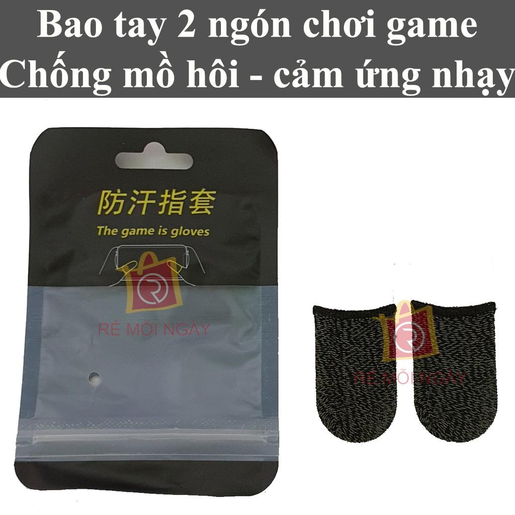 1 cặp Bao tay chơi game chống mồ hôi, găng tay chơi game, bao ngón tay chơi game bắn súng, PUBG, Liên Quân