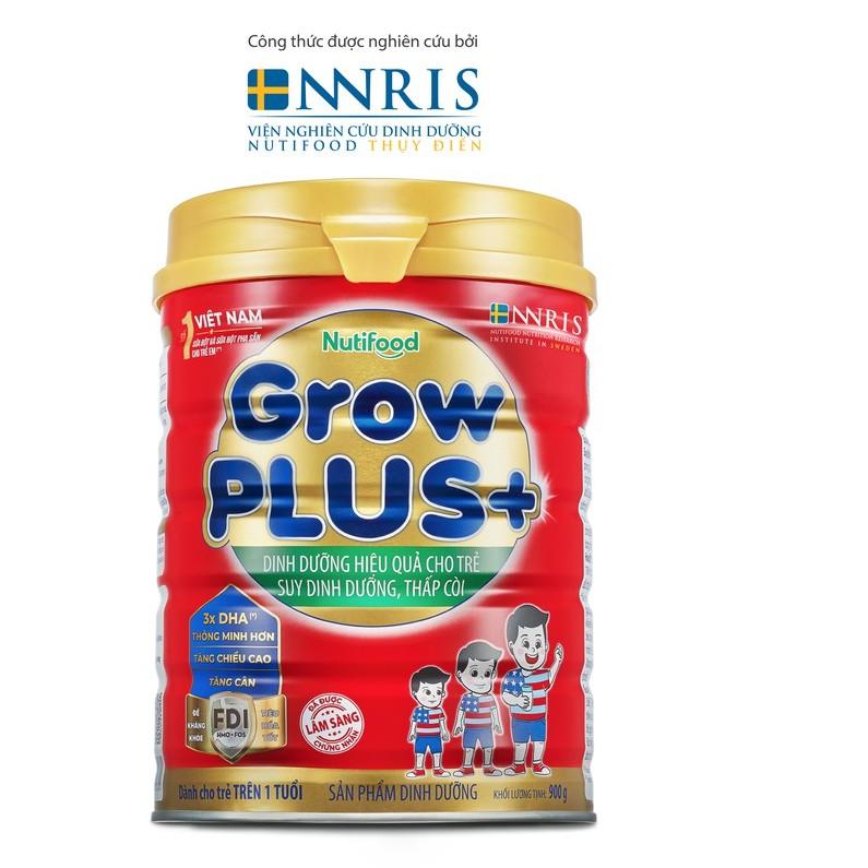 Sữa Bột GrowPLUS+ dinh dưỡng hiệu quả cho trẻ suy dinh dưỡng thấp còi 900g/lon