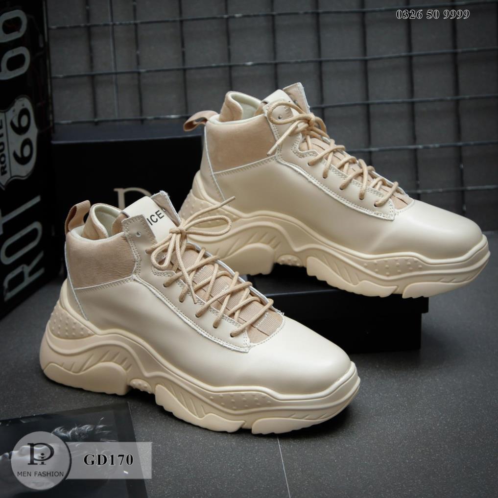 Giày Sneaker - Giày Da Nam Cổ Cao 2 Màu Cao Cấp thusamshop
