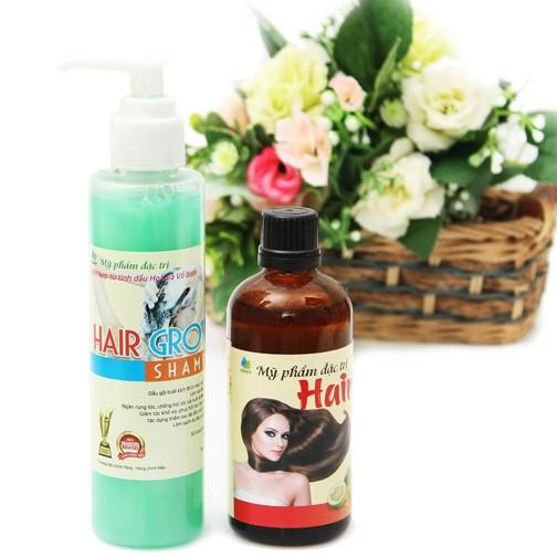 [ Mọc Tóc] Combo 1 dầu gội và 1 tinh dầu bưởi kích thích mọc tóc chống gẫy rụng hiệu quả