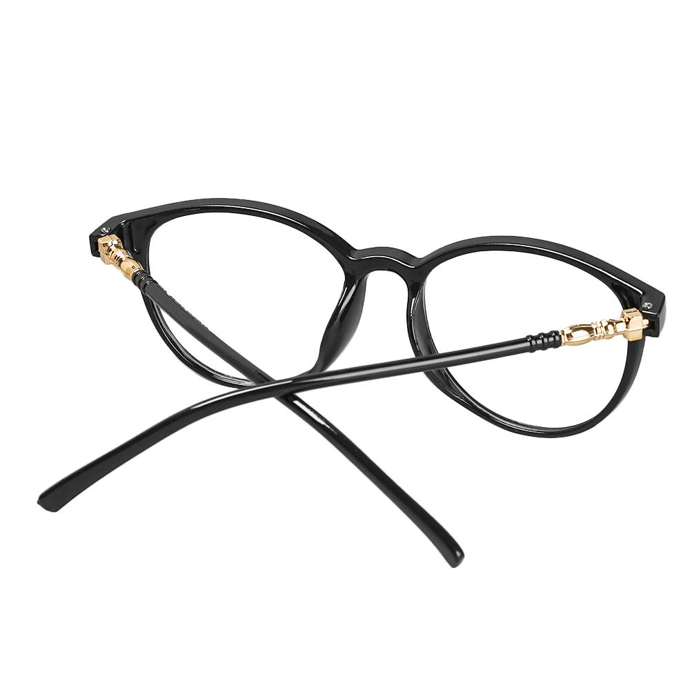 YVETTE Retro Vision Care Resin Flat Lens Computer Glasses Flexible Portable Anti Blue Rays Fashion Myopia Prescription Eyeglasses/Multicolor