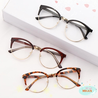 MIHAN1 Men Women Optical Glasses Anti-fatigue Eyeglasses Retro Spectacles Frames Fashion Computer Clear Lens Vintage Eyewear/Multicolor