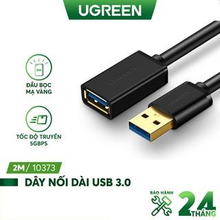 Dây nối dài USB 3.0 mạ vàng, dài từ 1-3m UGREEN US129 hỗ trợ tốc độ tải lên đến 5Gbps