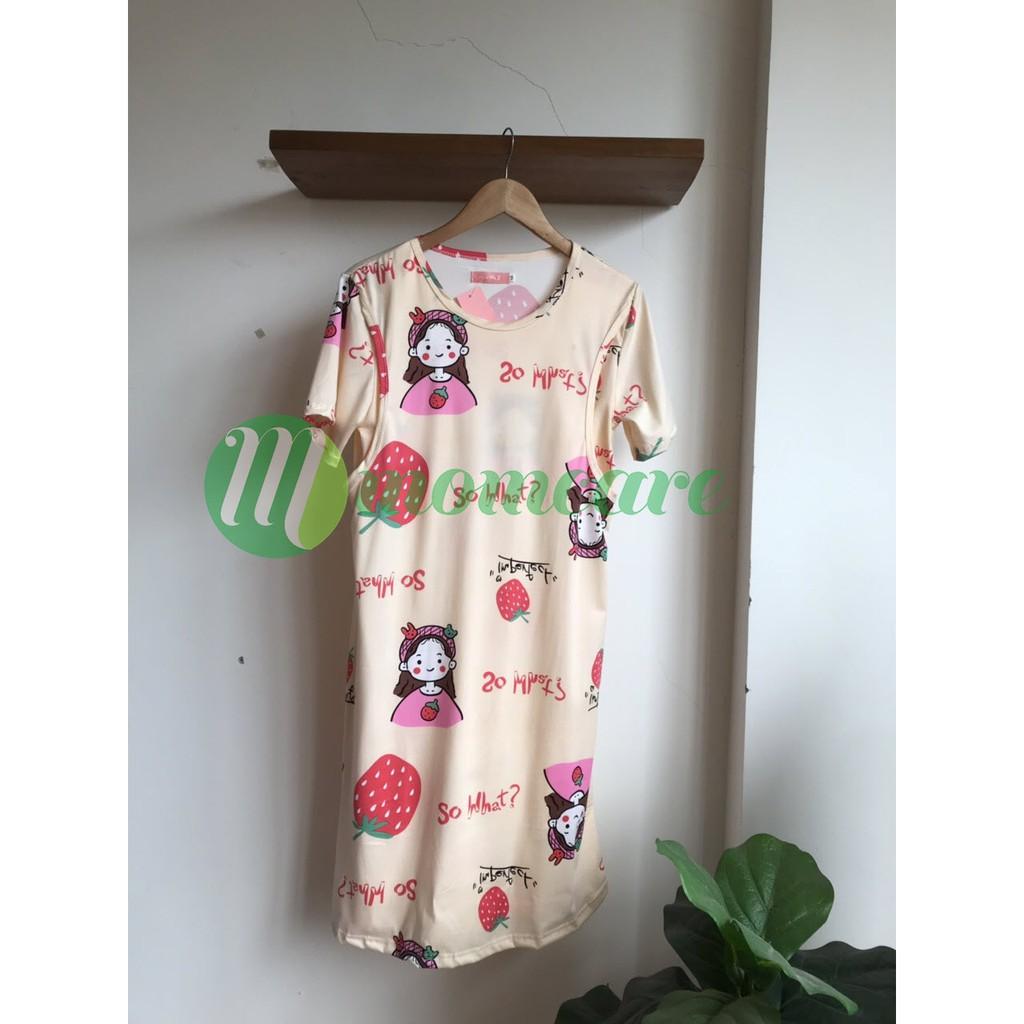 Mặc gì đẹp: Gọn tiện với [Mẫu Mới] Váy đầm ngủ bầu và sau sinh cho con bú ti - Đồ bầu mặc ở nhà dễ thương - Thời trang bà bầu mùa hè đẹp giá rẻ