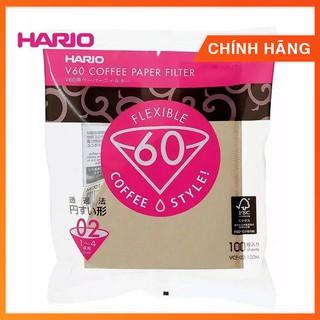 [Mã SR14MAY5 giảm 20K đơn 50K] Giấy lọc cà phê nâu Hario V60 (không tẩy trắng)