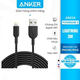 Cáp sạc ANKER Powerline II Lightning - Dài 3.0m - A8434 thumbnail