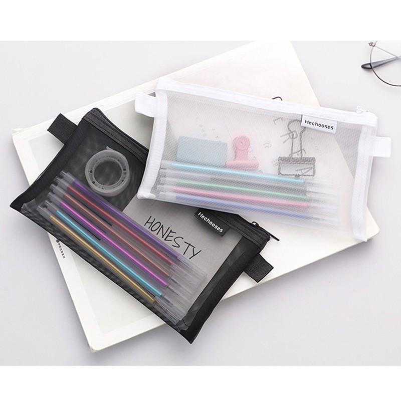 Túi đựng bút vải lưới xuyên thấu tiện dụng   SaleOff247