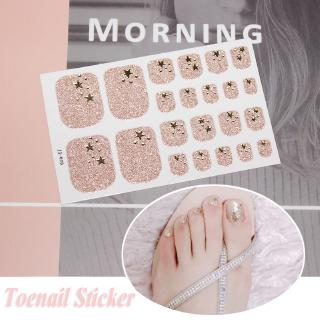 Bộ 22 nhãn dán trang trí móng chân 3d nghệ thuật thumbnail