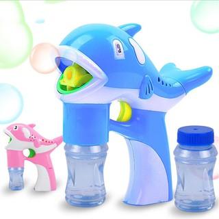 Máy bắn bong bóng hình cá heo, màu xanh
