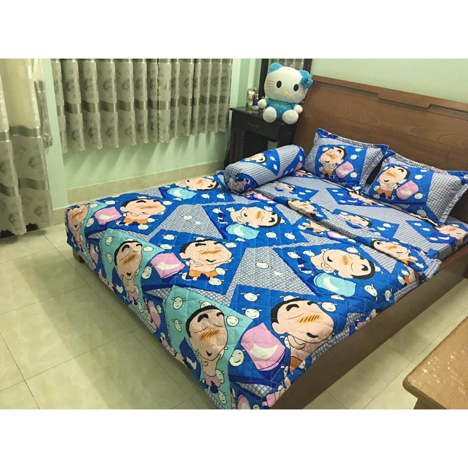 Bộ Chăn Drap Giường Cotton Poly Tmark 54 (Shin Cậu Bé Bút Chì) - 2644275 , 584856489 , 322_584856489 , 233550 , Bo-Chan-Drap-Giuong-Cotton-Poly-Tmark-54-Shin-Cau-Be-But-Chi-322_584856489 , shopee.vn , Bộ Chăn Drap Giường Cotton Poly Tmark 54 (Shin Cậu Bé Bút Chì)