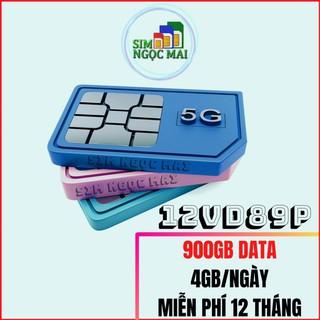 Sim 4G Vinaphone VD89P – D60G Trọn Gói 1 Năm , Miễn Phí 4GB/NGÀY Data, nghe gọi thả ga- Sim Ngọc Mai (giá khai trương )