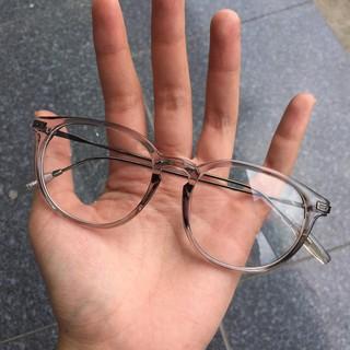 gọng kính cận vintage càng kim loại mảnh